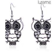 Women's Drop Earrings Luxury Costume Jewelry Imitation Diamond Alloy Animal Shape Owl Jewelry For Daily