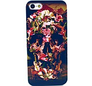 tiger crânio flor forma padrão caso capa dura para iphone 5c