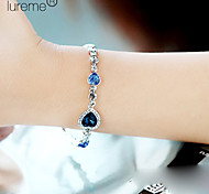 Lureme®Fashion Crystals Heart Shape Bracelet
