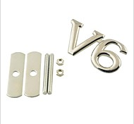 cheap -3D V6 Grill Decoration Emblem for Car Tuning - Silver