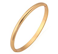 cheap -Women's Bangles Bracelet Basic Simple Style Platinum Plated Gold Plated Circle Jewelry Wedding Party Birthday Gift Daily Casual Sports