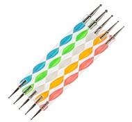 5шт 2-полосная Nail Art расставить инструменты