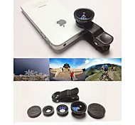cheap -KLW 3 in 1 Wide Angle lens /Macro lens/180 Fish Eye Lens/ Kit Set for iPhone 5 /6 /iPad and  Others