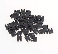 cheap -Pitch 2.54mm Jumper Shorted Shorted Cap Pin Connector Block Cap(50Pcs)