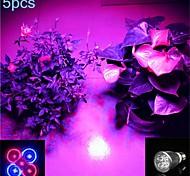 baratos -5W lm E26/E27 Lâmpadas de Foco de LED MR16 5 leds SMD Roxa AC 85-265V