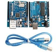 Недорогие -UNO R3 модуль доска + Ethernet щит W5100 модуль для Arduino