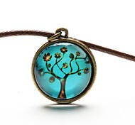cheap -Women's Pendant Necklace - Leather, Resin Fashion Blue Necklace For Daily, Casual, Sports