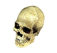 Хэллоуин 2-в-1 Emulational смолы череп украшения - желто-белый
