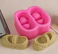 Недорогие -пара обуви в форме помадной торт шоколадный силиконовые формы