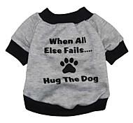 Gatos / Perros Camiseta Gris Ropa para Perro Primavera/Otoño Letra y Número