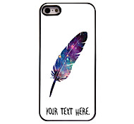 cheap -Personalized Case Feather Design Metal Case for iPhone 5/5S