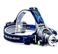 TD286 LED Flashlights / Torch Headlamps Headlight LED 800 lm Mode Cree T6 Adjustable Focus Rechargeable Waterproof for