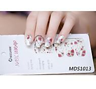 Недорогие -14pcs мультфильм теплый цвет ногтей искусство наклейки mds1013