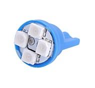 gc® T10 4W 120LM 4 × 3528 SMD LED голубой свет для автомобилей прибора свет / двери / багажник ламп (DC 12V)