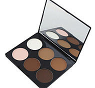 cheap -6 Highlighters/Bronzers Dry Matte Powder Face