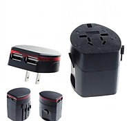 Universal Travel Power Plug Adapter with 2 USB for International Travel