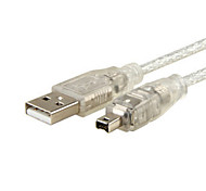 USB Male to Firewire IEEE 1394 4 Pin Male iLink Adapter Cord Cable for SONY DCR-TRV75E DV