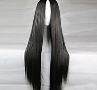 жен. Парики из искусственных волос Длиный Прямой силуэт Черный Черный парик Парики к костюмам