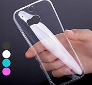 Недорогие -Для Кейс для HTC Ультратонкий / Прозрачный Кейс для Задняя крышка Кейс для Один цвет Мягкий TPU HTC