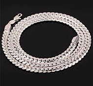cheap -U7® Men's Chunky Necklace 3 Colors 18K Gold Plated Wheat Classical Chain Necklace Jewelry Unisex High Quality 26''