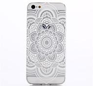 Недорогие -iPhone 5/iPhone 5S - Кейс на заднюю панель - Особый дизайн/Прозрачный/Оригинальный/Ультратонкий/Китайский дизайн/Цветы (Несколько цветов ,