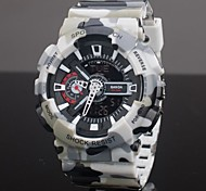 SANDA® Men's Sport Watch Quartz Analog-Digital LCD/Calendar/Chronograph/Water Resistant/Dual Time Zones/Alarm Cool Watches Unique Watches