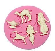 Недорогие -Aladdin сказка силиконовые формы кекс украшения силиконовые формы для помадные ремесел украшения шоколада PMC смолы глины