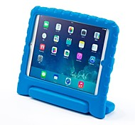 Недорогие -Кейс для Назначение Apple Защита от удара / со стендом / Безопасно для детей Чехол Однотонный Этиленвинилацетат для iPad Air