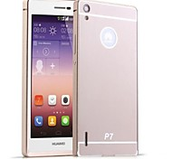 HHMM Aluminum Frame PC Back Cover Mobile Phone Covers Protective Cases For Huawei P7 (Assorted Colors)