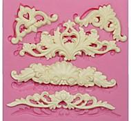 Недорогие -Европейский силиконовые формы кружева для украшения торта помадка