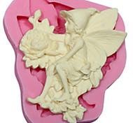 Ангел цветов силикона мыло формы украшения торта инструменты помадной FIMO десен пасты&шоколад