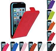 iPhone 5C - Hüllen (Full Body) - Volltonfarbe/Sonstiges ( Rot/Schwarz/Weiß/Grün/Blau/Braun/Rosa/Purpur/Rosenfarben/Orange , PU-Leder )