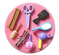гребень зеркало вентилятор макияж инструменты помадной формы торта формы шоколада