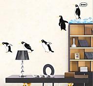 окружающей среды съемный стикер пингвин стены PVC