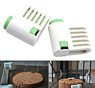 Недорогие -5 слоев торт хлеб резак Нивелир резки резки Фиксатор инструменты (случайный цвет, 2 шт) 6x6x3cm