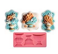 baratos -fondant bolo em forma de chocolate do molde de silicone vaso de flor clássico, ferramentas de decoração cupcake, l12.8cm * * w5.9cm h1.2cm