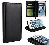 Multi-function Wallet Style Solid Color PU Leather Full Body Protection Cover with Stand and Card Slot for iPhone 6