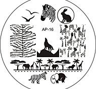 Nail Art Stamp Stamping Image Template Plate AP Series NO.16