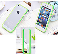 cheap -Case For iPhone 5 Apple iPhone 5 Case Shockproof Bumper Solid Color Hard Silicone for iPhone SE/5s iPhone 5