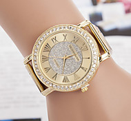 cheap -yoonheel Women's Quartz Wrist Watch Imitation Diamond Metal Band Casual Simulated Diamond Watch Elegant Fashion Gold