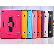 360 Degree Rotating Split Hand Strap Leather Case Stand Cover for Apple iPad Air 2(Assorted Colors)
