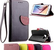Книга флип кожаный чехол с подставкой и слот для карт памяти для Samsung Galaxy s6 g9200 (разные цвета) (ассорти цветов)