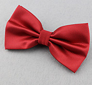 Unisex Polyester Bow Tie,Vintage Cute Party Work Casual Solid All Seasons Red