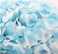 Недорогие -100 штук градиентный цвет искусственный лепесток для украшения свадебной церемонии