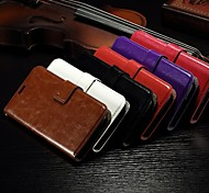 Card Wallet Crazy Horse Pattern PU Leather Full Body Case with Stand Slot for Alcatel One Touch Pop C7