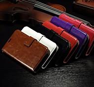 Недорогие -карта бумажник с ума рисунок лошади пу кожаный чехол для всего тела со слотом для стенда Alcatel One Touch поп с7 (ассорти цветов)