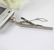 творческой цели stickpin сплава стразами двойной Anti-Dust Разъем для универсального мобильного телефона
