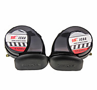 2x Air Horn Snail Airhorn 12V 130dB Car Truck Vehicle Motorcycle Yacht Boat
