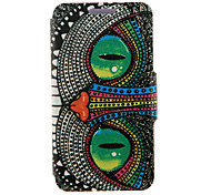 cheap -Case For HTC HTC Case with Stand with Windows Flip Full Body Cases Cat Hard PU Leather for