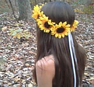 Sunflower Crown, Big Sunflower Headband  Sunflower Halo, Sunflower Hair wreath, Sunflower Headpiece, Fall Flower crow